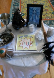Spirit's Edge Healing Altar for our Online Ritual of Healing, Aug. 25, 2014
